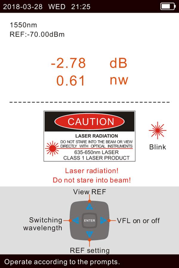 Giao diện đo PON, phát OLS và phát VFL